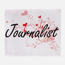 Journalist Artistic Job Design with Throw Blanket