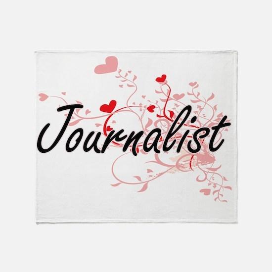 Journalist Artistic Job Design with Throw Blanket