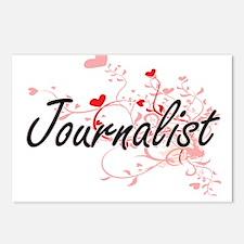 Journalist Artistic Job D Postcards (Package of 8)