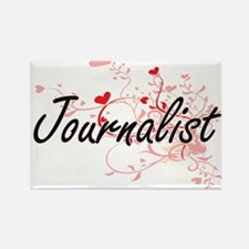 Journalist Artistic Job Design with Hearts Magnets