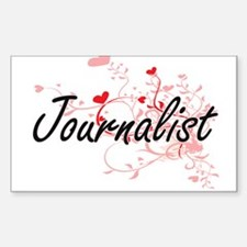 Journalist Artistic Job Design with Hearts Decal