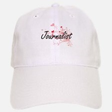 Journalist Artistic Job Design with Hearts Baseball Baseball Cap