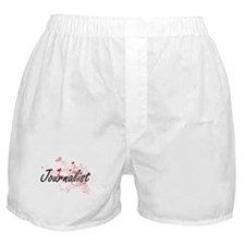 Journalist Artistic Job Design with H Boxer Shorts