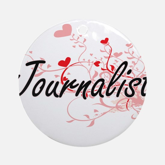 Journalist Artistic Job Design with Round Ornament