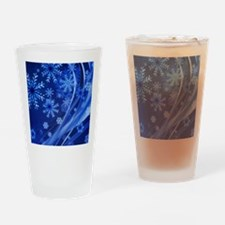 Blue Snowflakes Drinking Glass
