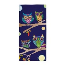 Nighttime Owl Party Beach Towel