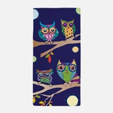 Nighttime Owl Party Beach Towel