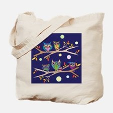 Nighttime Owl Party Tote Bag