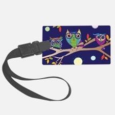 Nighttime Owl Party Luggage Tag
