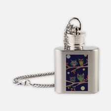 Nighttime Owl Party Flask Necklace
