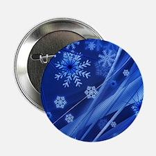 """Blue Snowflakes 2.25"""" Button"""