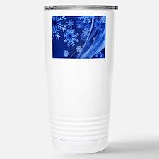 Blue Snowflakes Travel Mug