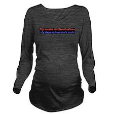 Cute Mania Long Sleeve Maternity T-Shirt