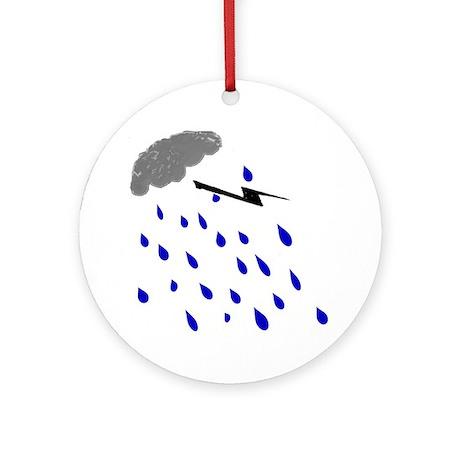 Rainy Day Ornament (Round)