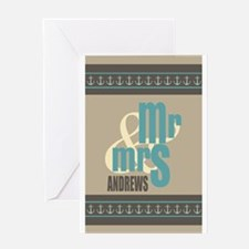 Mr. and Mrs. Custom Family Name Greeting Card