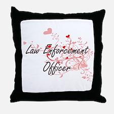 Law Enforcement Officer Artistic Job Throw Pillow