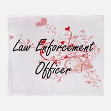 Law Enforcement Officer Artistic Job Throw Blanket