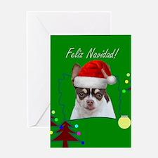 Feliz Navidad Chihuahua Dog Greeting Cards