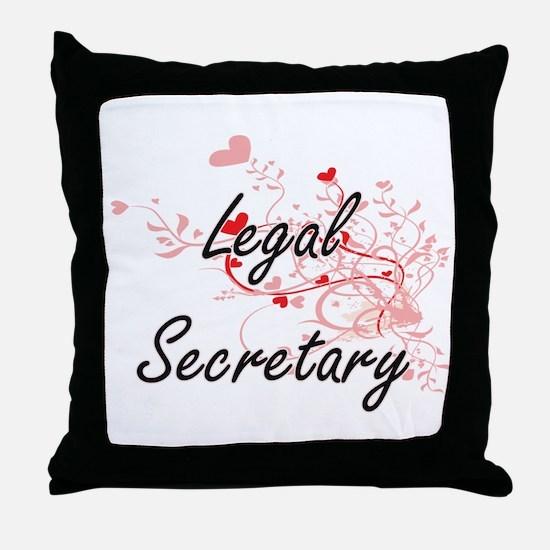 Legal Secretary Artistic Job Design w Throw Pillow