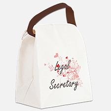 Legal Secretary Artistic Job Desi Canvas Lunch Bag