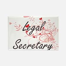 Legal Secretary Artistic Job Design with H Magnets