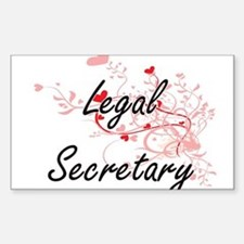 Legal Secretary Artistic Job Design with H Decal