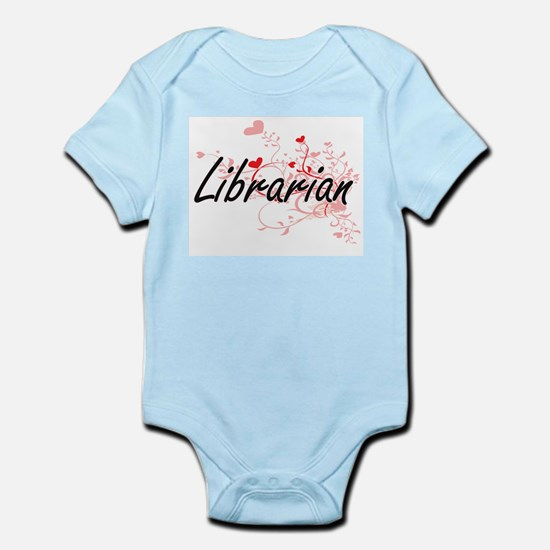 Librarian Artistic Job Design with Heart Body Suit