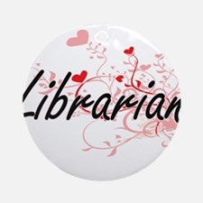 Librarian Artistic Job Design with Round Ornament