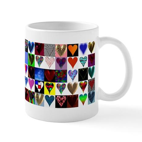 80 Hearts On A Mug