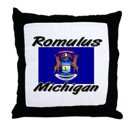 Romulus Michigan Throw Pillow