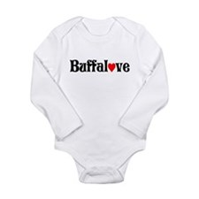 Unique Love heart hockey swirl Long Sleeve Infant Bodysuit