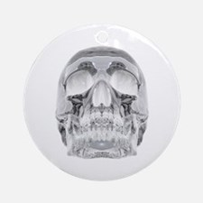 Crystal Skull Round Ornament