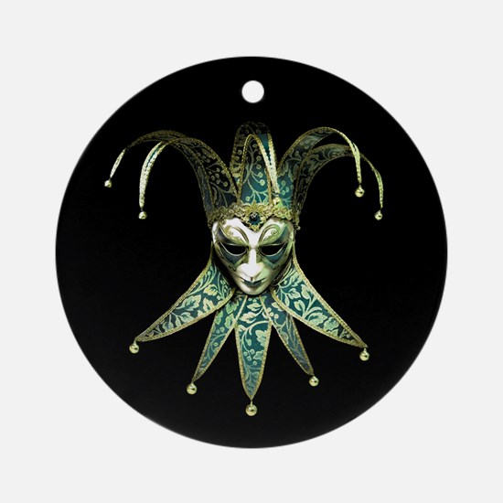 Venetian Joker Mask Round Ornament