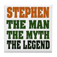 STEPHEN - the legend Tile Coaster