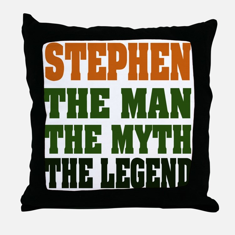 STEPHEN - the legend Throw Pillow