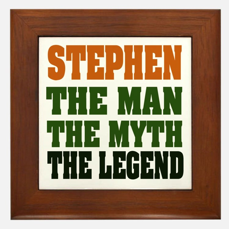 STEPHEN - the legend Framed Tile