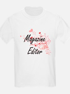 Magazine Editor Artistic Job Design with H T-Shirt