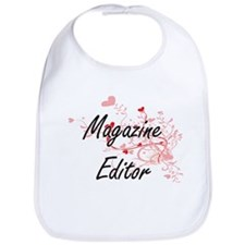 Magazine Editor Artistic Job Design with Heart Bib