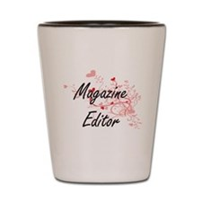 Magazine Editor Artistic Job Design wit Shot Glass