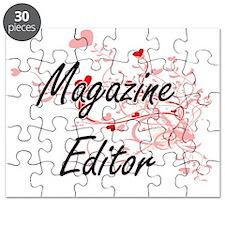 Magazine Editor Artistic Job Design with He Puzzle
