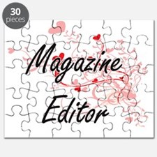 Magazine Editor Artistic Job Design with He Puzzle