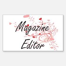 Magazine Editor Artistic Job Design with H Decal
