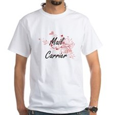 Mail Carrier Artistic Job Design with Hear T-Shirt