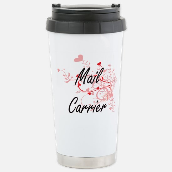 Mail Carrier Artistic J Stainless Steel Travel Mug