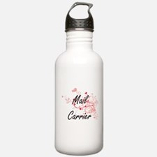Mail Carrier Artistic Water Bottle