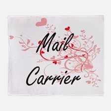 Mail Carrier Artistic Job Design wit Throw Blanket