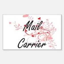 Mail Carrier Artistic Job Design with Hear Decal