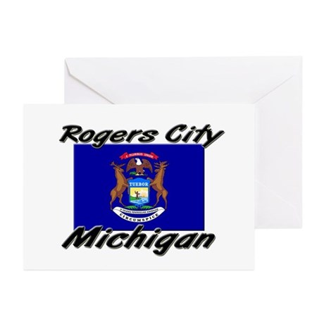 Rogers City Michigan Greeting Cards (Pk of 10)