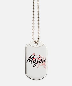 Major Artistic Job Design with Hearts Dog Tags