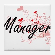 Manager Artistic Job Design with Hear Tile Coaster